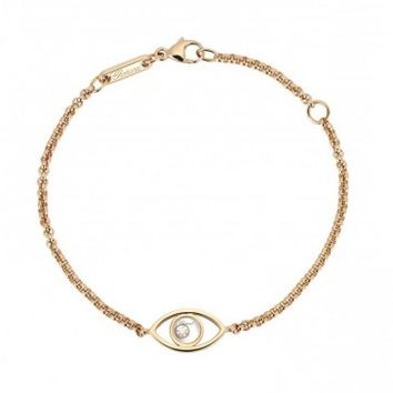 Chopard Happy Diamonds Icon 18kt Rose Gold Evil Eye Bracelet