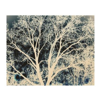 nature art on wood panel wall art with tree