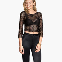 H&M Short Lace Top $29.95