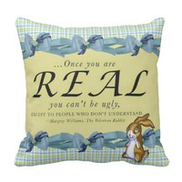 """The Velveteen Rabbit"" THROW PILLOW 16X16"