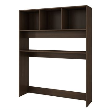 Aosta Display Desk with 4 Shelves in Tobacco