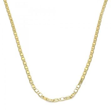 Gold Layered 04.99.0010.18 Basic Necklace, Mariner Design, Polished Finish, Golden Tone