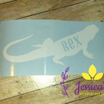Bearded dragon decal | Decal | Bearded dragon | custom decal