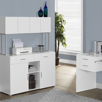 "White Hollow-Core 48""L Office Storage Credenza"