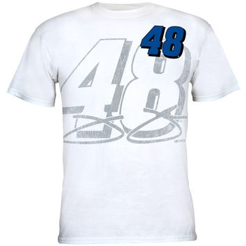Chase Authentics Jimmie Johnson Big Number T-Shirt - White