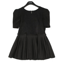 Separated Look Dress with Pleated Skirt | FashionShop【STYLENANDA】