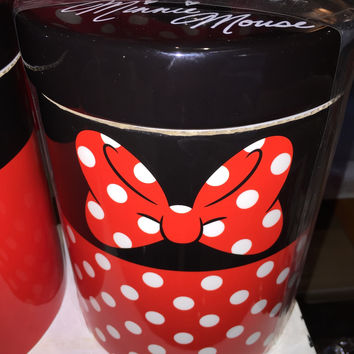 disney parks signature minnie mouse kitchen canister cookie jar ceramic new