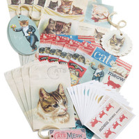 Cavallini & Co. French A Gift Fur You Parcel Wrapping Set