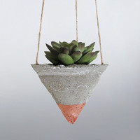Air Planter, Hanging Planter, Succulent Planter, Concrete Planter, Geometric Planter, Mini Planter, Modern Planter, Indoor Planter, Bronze