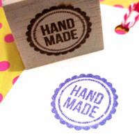 Retro Handmade rubber stamp