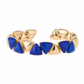 Vhernier 18K Rose Gold Lapis and Rock Crystal Bracelet