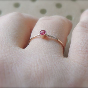 Ruby Gold Ring, White Gold Ring, Natural Ruby Ring, 14k White Gold Ring, Engagement Ring, Delicate Gold Ring, Stacking Ring, Stackable Ring