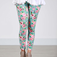 SA Exclusive Misty Floral Leggings