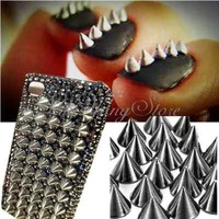 20pcs Metal Nail Art Tips UV Gel Decoration Phone Bullet Cone Spike Studs Rivet