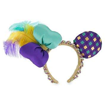 Disney Parks Minnie Mouse Mardi Gras Ears Headband New with Tag