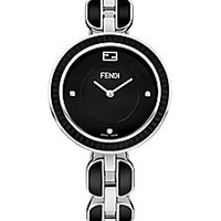 Fendi - Fendi My Way Fox Fur, Stainless Steel & Ceramic Bracelet Watch/Black - Saks Fifth Avenue Mobile