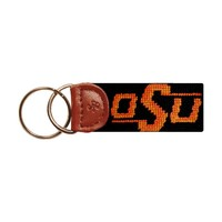 Oklahoma State University Needlepoint Key Fob in Black by Smathers & Branson