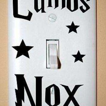Harry Potter Vinyl Wall Sticker Decal Lumos Nox Light Switch Home 3pcs per set