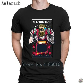 Skateboard Skater t-Shirt All the time ings t-shirts Formal Customized Latest gents tshirt for men summer funky Round Collar Pop Top Tee AT_45_3