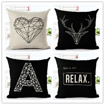2016 High Quality Fashion Style contracted Cushion Home Decorative Cojines Sofa decorative Pillow Cotton Linen Square Almofadas
