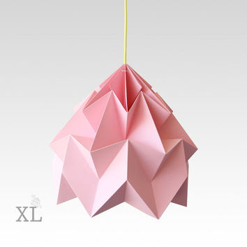 XL Moth origami lampshade pink