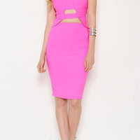 Hot Pink Kylie Dress