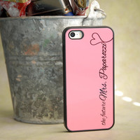The Future Mrs. iPhone Case in Pink and Black Monogram with Heart
