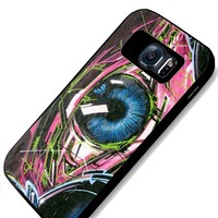 Graffiti Eye Colorful Samsung Galaxy S4 S5 S6 Case (samsung s6 black)