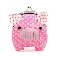Supermarket: Little hot pink piggy clutch purse from Misala Handmade Bags & Purses