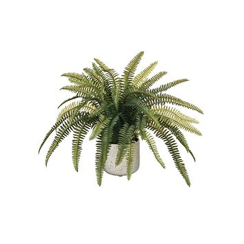 """Artificial Potted Fern- 14"""" Tall"""