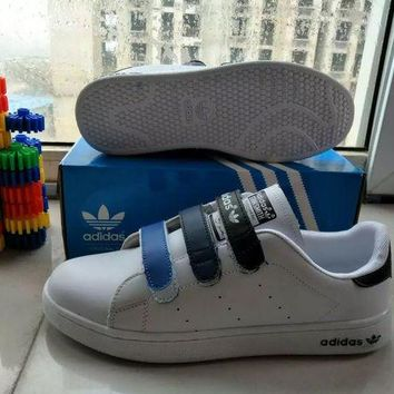 """Adidas STAN SMITH"" Fashion Casual Unisex Plate Shoes Sneakers Couple Velcro Small Whi"