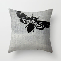 Silence of the Lambs Throw Pillow by Kat Phelps