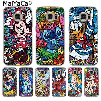 MaiYaCa fairy tale stained Alice Mickey Mouse phone case for SamsungS3 S4S5 S6 S6edge S6plus S7 S7edge S8 S8plus