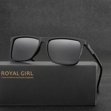 ROYAL GIRL Polarized Fashion Men Polarized Sunglasses Men Driving Mirrors Coating Points Eyewear Male With Case MS002