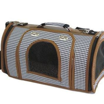 New NestPet Pet Carrier Dog Cat Airline Bag Tote Purse Handbag 2WM