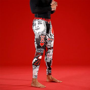 King Of Hearts Red Tights for Men