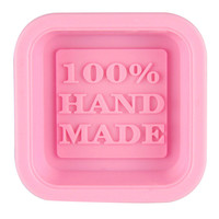 Voberry  Cute Craft Art Square Silicone Oven Handmade Soap Molds DIY Soap Mold