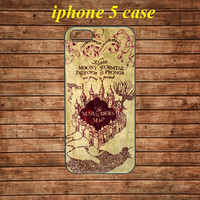iphone 5 case,iphone 5 hard case,iphone 5 cover,iphone 5 hard cover---Harry Potter marauder's map,in plastic