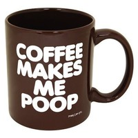 Amazon.com: Coffee Makes Me Poop! ~ Funny Coffee Mug/Cup ~ 11 oz ~ Dark Brown with White Letters: Kitchen & Dining