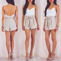 Where It Began Playsuit - Oatmeal
