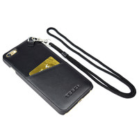 iPhone 6 Plus / 6s Plus Clip Leather Case with Wristlet and Neck Lanyard