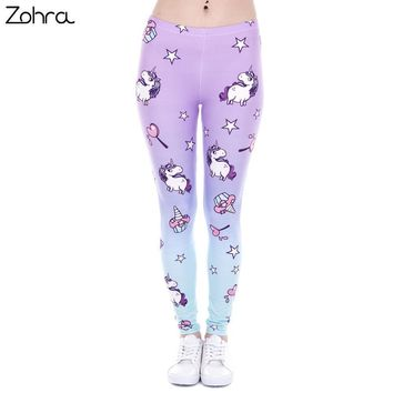 Women Unicorn/ Lollipop/Funky Print Legging Tights