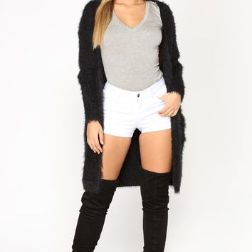 Warm And Cozy Cardigan - Black