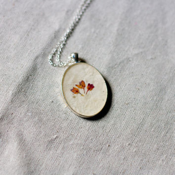 on sale  NO CHAIN pressed flower resin necklace by StudioBotanica