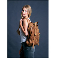 Brown Leather BackPack - Leather Tote Bag - Laptop Backpack - Luxury leather Handbag for women
