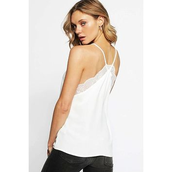 Lace Cami Top - Off White