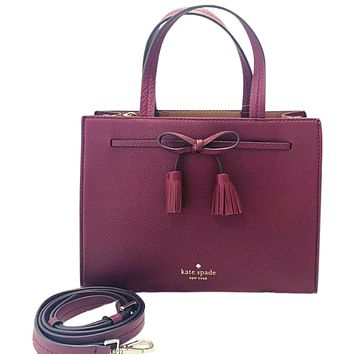 Kate Spade New York Hayes Pebble Leather Small Satchel Womens Style : Wkru5775