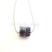 Hand Stamped Personalized Wrap Pendant Necklace - Custom Jewelry - Aluminum