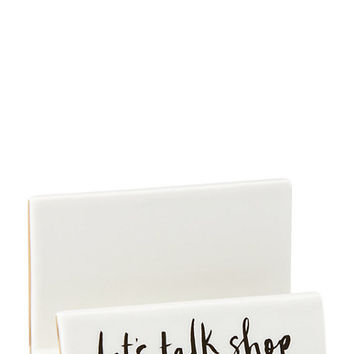 Kate Spade Daisy Place Let's Talk Shop Business Card Holder White ONE