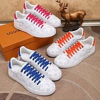 Louis Vuitton LV new couple casual printed alphabet sneakers